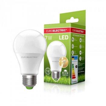 Довговічна світлодіодна енергоефективна лампа EUROELECTRIC LED A60 7W E27 матовий 4000K ЕКО (1000000562)