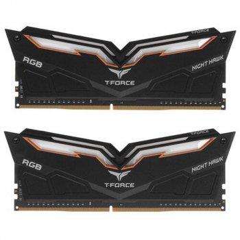 Модуль памяти DDR4 2x8GB/4000 Team T-Force Night Hawk Black RGB (TF1D416G4000HC18EDC01)