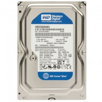 Жорсткий диск 3.5 Western Digital Blue 250Gb (WD2500AAKX_)