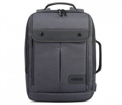 Компактний міський портфель-сумка-рюкзак-брифкейс 4в1 Arctic Hunter B00325 з USB портом, 20л
