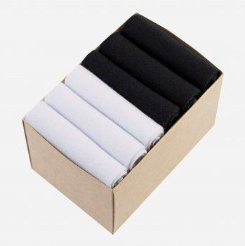 Набор коротких носков Lapas 6P-220-150 (6 пар) Черный/Белый M