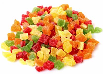 Цукати Eco кольорові кубики мікс 500 гр