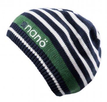 Демисезонная шапка NANO S18TUT259-DkHeaven черно-белый (S18TUT259-DkHeaven-12/24m)
