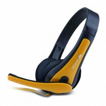 Навушники CANYON CNS-CHSC1 Black/Yellow (CNS-CHSC1BY)