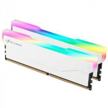 Модуль пам'яті для комп'ютера DDR4 32GB (2x16GB) 3600 MHz RGB X2 Series White eXceleram (ERX2W432369CD)