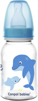 Бутылка Canpol babies PP Love & Sea 120 мл Голубой (59/300 Блакитний)