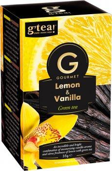 Чай G'teaзеленый GourmetБукет с лимоном и ванилью 20 пакетиков по 1.75 г (5060207697354)