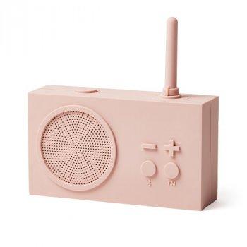 Колонка Bluetooth c радиоприемником 3 Вт. розовая Франция 410924