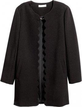 Пальто H&M 2hm011100123 Чорне