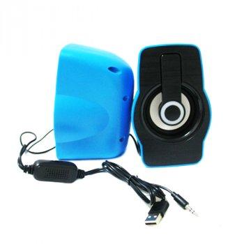 Колонки для комп'ютера і ноутбука FnT FT-185 комп'ютерна стерео акустика на 6 Вт з підсвічуванням живлення від USB, регулятор гучності на шнурі (45797)