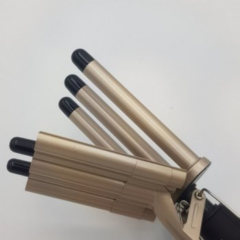 Плойка для волос 5 волн Gemei/Geemy GM 2933 Pro 65 Вт щипцы для завивки волос в локоны и кудри с зажимом 180-210º терморегулятор на 2 режима (48069)