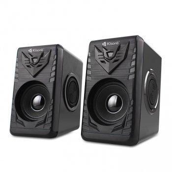 Колонки для ПК Kisonli T-008A, динамики для компьютера, домашняя аудиосистема, акустика, черный