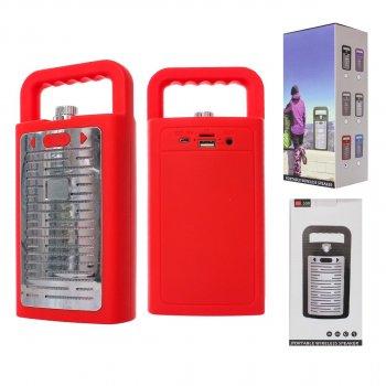 Портативная Bluetooth колонка S08, беспроводной блютус динамик, акустика, красный