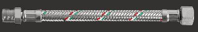 """Шланг гнучкий Parigi Parinox (Гайка-штуцер) 1/2""""x1/2""""x120 див. нержавіюча обплетення (60217)"""