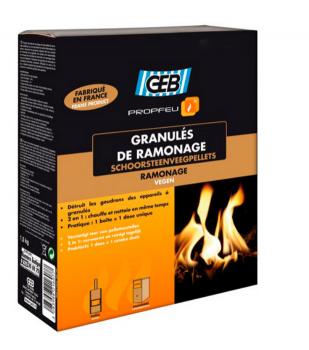 Гранули для чищення димоходів GEB Granules De Ramonage (1,5 кг) від смол і сажі (821609)