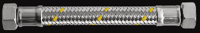 "Шланг газовий Parigi Sicurgas (0,8 м.) 1/2""x1/2"" (ВВ) в нержавіючої обплетенні (60272)"