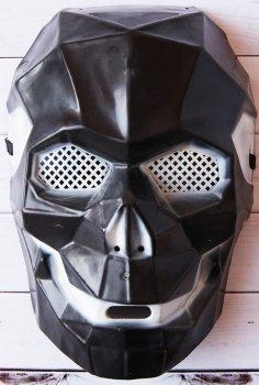 Маска пластиковая Карнавал Киборг череп Черная 16х24х11 см KMP-8258 (2200000005717)