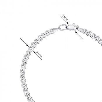 Браслет из серебра в плетении Нонна 3мм 000118135