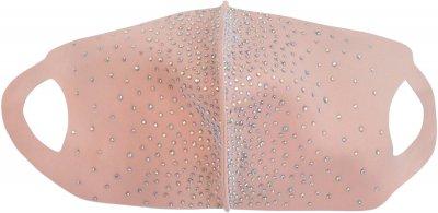 Многоразовая Маска-питта Anmerino размер M со стразами/Персиковая (294448693)