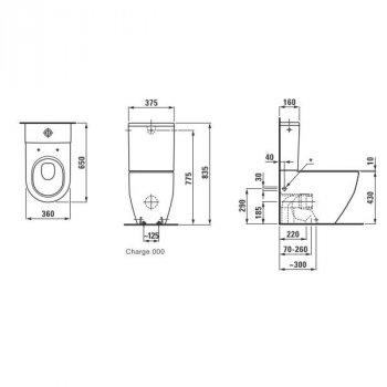 PRO компакт підлоговий, боковий підвід води, в комплекті з сидінням Slim, із системою плавного опускання