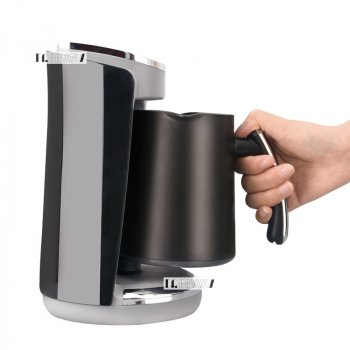 Кофеварка для дома электрическая турка на 4 чашки 250мл 400Вт Lexical Grey/Black (LCP-0520)