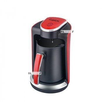 Кофеварка для дома электрическая турка на 4 чашки 250мл 400Вт Lexical Black/Red (LCP-0520)