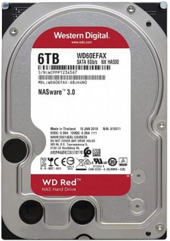 "Жорсткий диск 3.5"" 6Tb Western Digital Red SATA3 256Mb 5400 rpm (WD60EFAX)"
