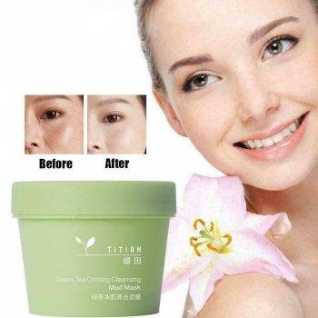 Охлаждающая очищающая грязевая маска Bioaqua Green Tea Cooling Cleansing Mud Mask с зеленым чаем 100 г (6972696991853)
