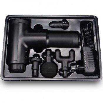 Портативный перкуссионный ручной массажер для тела Fascial Gun KH-320 Мышечный Black (1003)