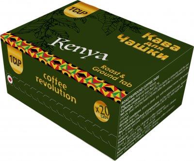Кофе молотый прессованный для заваривания в чашке UCC 1 CUP Кения 20 шт (4820230023480)