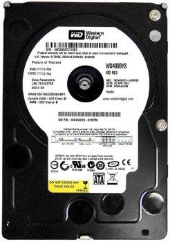 HDD SATA 400GB WD 7200prm 16MB (WD4000YS)