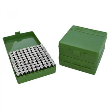 Бокс для патронів 9мм MTM CASE-GARD P-100 Series 100 Round Flip-top Handgun Ammo Box - 9mm