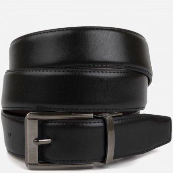 Двусторонний мужской ремень кожаный Vintage 20225 110 см Черный/Коричневый