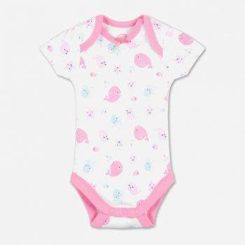 Боди-футболка Baby Club CA32153 Белый/Розовый