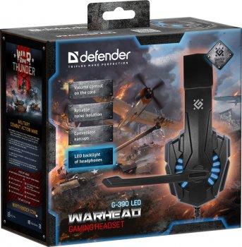 Навушники Defender Warhead G-390 LED Black-blue (64039)