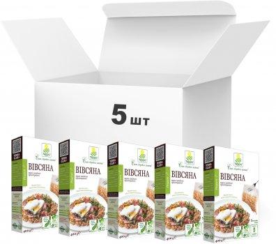 Упаковка крупы овсяной Терра высшего сорта быстрого приготовления в варочном пакете 400 г х 5 шт (4820015737274)