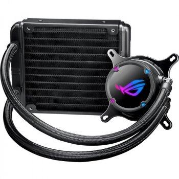 Система водяного охолодження Asus ROG Strix LC 120 (ROG-STRIX-LC-120), Intel:1150/1151/1152/1155/1156/1366/2011/2011-3/2066, AMD:AM4/TR4, 150х121х27мм, 4-pin