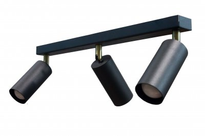 Світильник настінно-стельовий 100lamp Loft Е-27, планка, метал, похилий механізм (NL 1105-3)