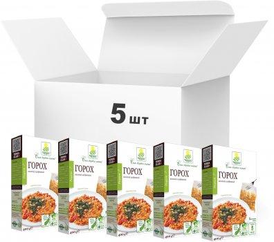 Упаковка гороху колотого Терра шліфованого першого сорту швидкого приготування у варильному пакеті 400 г х 5 шт. (4820015737335)