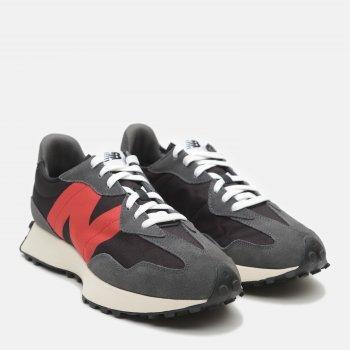 Кроссовки New Balance 327 MS327FF Черные с красным