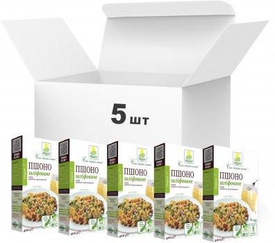 Упаковка пшена Терра шлифованного высшего сорта быстрого приготовления в варочном пакете 400 г х 5 шт (4820015737328)
