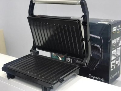 Електрогриль сэндвичница, Багатофункціональна бутербродниця 1500 Вт Rainberg Pro RG-5401 з антипригарним покриттям