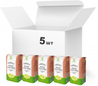 Упаковка хлопьев Терра Особо нежных ржаных быстрого приготовления 500 г х 5 шт (4820015737441)