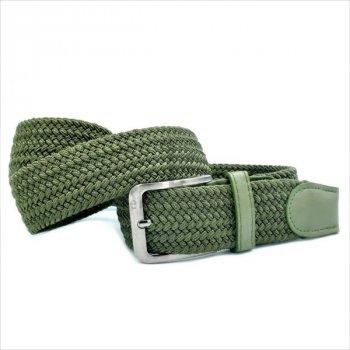 Текстильный зеленый ремень резинка Le-Mon 4 см. un-4rez-0084