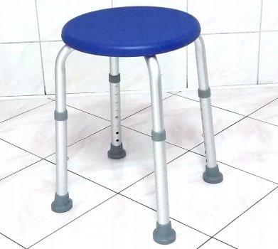 Табурет медицинский для ванны и душа Antar AT51117 с регулировкой высоты 7 уровней 37,5 - 55,5 см Синий