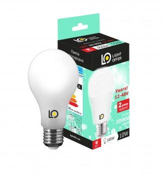 Світлодіодна лампа LED AC/DC 12-48V A60 10W E27 4000K 1020 Lm ( LЕD - 10 - 022 12-48V)