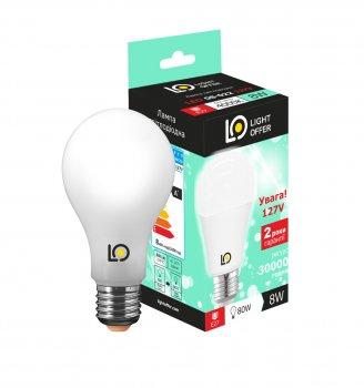 Светодиодная лампа LED AC 127V A60 8W E27 4000K 830 Lm ( LЕD - 08 - 022 127V)