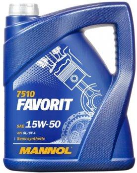 Моторна олива Mannol Favorit 15W-50 5 л (599/5)