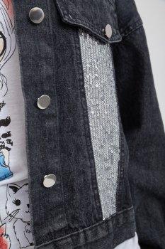 Женская джинсовая куртка 131R1073 AGER Черный
