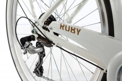 Электровелосипед женский Dorozhnik RUBY 36V 10AH 350W передний привод белый (RUBW)